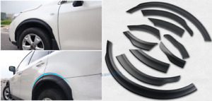 10pcs Abs Matte Black Wheel Arch Fender Flares For Subaru Forester 2013 2017