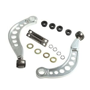 Adjustable Rear Upper Camber Control Arms Kit For 06 15 Honda Civic 1 8 Silver