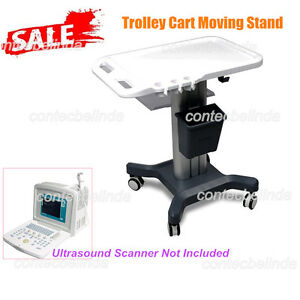 Mobile Trolley Cart Moving Stand For Portable Digital Ultrasound Scanner Contec