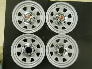 Set Of 4 Ford F 150 1960 1996 Pickup Truck 15 X 7 Rally Wheels 5 X 5 1 2