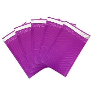 50 000 Purple Poly Bubble Mailers Envelopes Bags 4x8 Extra Wide Bag 4 X 8