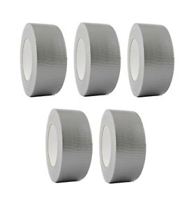 5 Rolls Silver Duct Tape 2 X 60 Yd Utility Grade Duct Tape Free Shipping