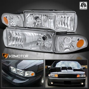 For 1991 1996 Chevy Caprice 1994 1996 Impala Clear Headlights corner Lamps