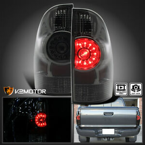 For Smoke 2005 2015 Toyota Tacoma Led Rear Tail Brake Lights Lamps Left Right