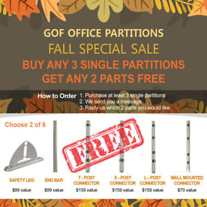 fall Special Sale Gof Office Partition Room Divider fabric Panel wall cubicle