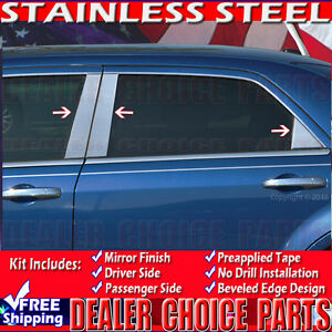 2005 2006 2007 2008 2009 2010 Chrysler 300 6p Stainless Steel Chrome Pillar Post