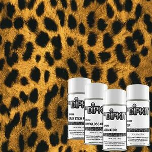 Hydrographic Dip Kit Cheetah Print With Tan Base Paint Mydipkit Ap 033