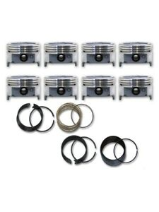 75 82 Fits Ford 351m 5 8l Modified Dish Top Pistons Rings