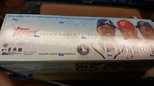 Topps 2010 Complete Set Baseball Cards Collectors Set Blue