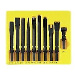 Grey Pneumatic Cs110 10 Pc 401 Shank General Service Chisel Set