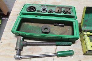 Greenlee 1804 Ratchet Knockout Punch Set