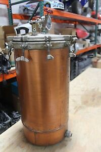 Copper Pressure Tank Still 28 Tall 13 Diameter