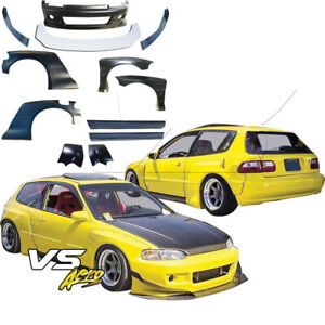 Vsaero Frp Tkyo Bunny Wide Body Kit 12pc 3dr Hatchback For Honda Civic Eg 9