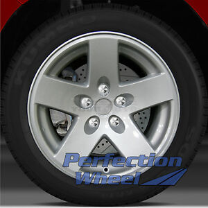2002 2007 Jeep Wrangler 16x8 Factory Wheel Sparkle Silver