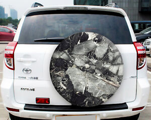 Spare Wheel Cover Sticker Marble Full Color Sticker High Quality German Vinyl 8