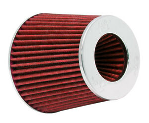 K N Rg 1001rd Universal Air Filter Chrome Round Tapered Red