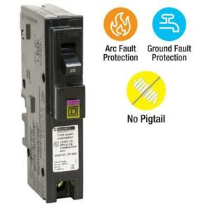 Square D Homeline Hom120pdfc Hom120pdf 20a Dual Function Plug In Breaker New
