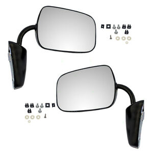 73 91 Chevy Gmc Pickup Truck Van Set Side Manual Black Steel Low Mount Mirrors