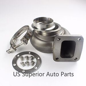 Exhaust Housing T4 96 A R P Trim Outlet 3 V Band Stainless Clamp Flange