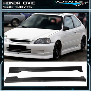 For 96 00 Honda Civic Cs Style 2dr 3dr Coupe Hatchback Side Skirts Unpainted Pu