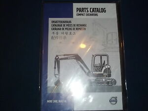 Volvo Compact Excavator Dvd Cd Parts Book Manual