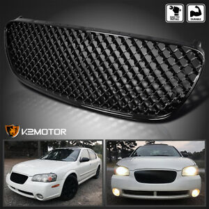 Shinny Black Honeycomb Style Front Hood Grill Grille For 2002 2003 Nissan Maxima