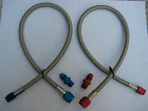 Nos Nitrous Nx Zex Holley Big Shot Cheater 4an X 3an X18 Blue Red Line Hose Kit