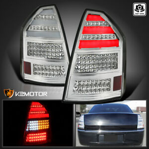For 2005 2007 Chrysler 300c Replacement Clear Led Tail Brake Lights Left Right