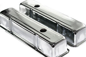 Small Block Chevy Tall Smooth Aluminum Valve Covers