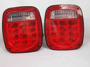 Fits Jeep Wrangler Led Tail Lights 1974 2006