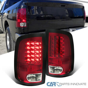 For 09 18 Dodge Ram 1500 2500 3500 Pickup Red Led Tail Lights Rear Brake Lamps