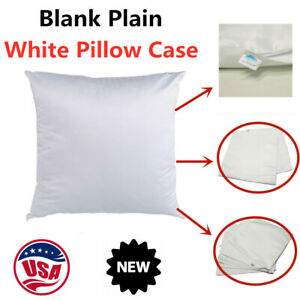 Usa 50pcs Plain Sublimation Blank Pillow Case Heat Transfer Cushion Cover