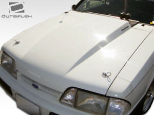Duraflex 2 Cowl Hood 1 Piece For Mustang Ford 87 93 Ed103014