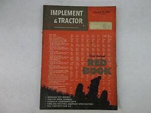 1967 Farm Tractor And Implement Red Book International John Deere Ford Oliver