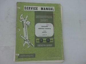 International Harvester Chassis Service Charts Td 6 175 250 180 Td 15 Td 24 270