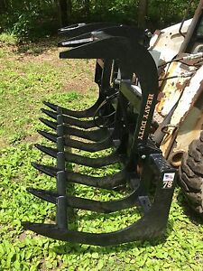 New 78 Root Grapple Skid Steer tractor Brush Bucket bobcat Case Cat Etc