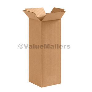 25 4x4x30 Tall Cardboard Packing Mailing Moving Shipping Corrugated Boxes