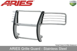 Aries Polished Stainless Steel Grille Brush Guard 2011 2014 Silverado 2500 3500