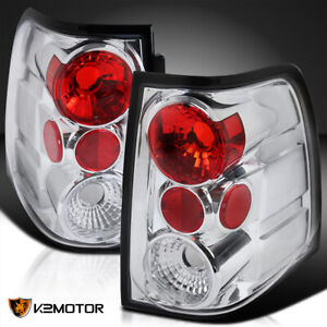 Fit 2003 2006 Ford Expedition Clear Tail Stop Lights Rear Brake Lamps Pair Lh Rh