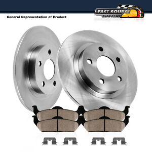 Rear Brake Rotors And Ceramic Pads For 2003 2004 2005 2006 Jeep Liberty Wrangler