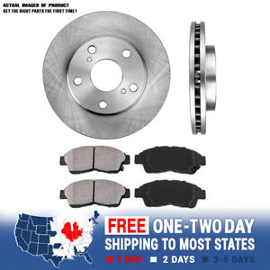 Front Rotors ceramic Pads For 1992 1993 1994 1995 1996 1997 2001 Toyota Camry