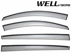 For 11 Up Kia Sportage Wellvisors Side Window Deflectors Visors W Black Trim