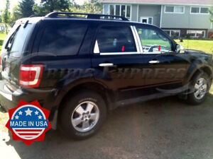 2008 2012 Ford Escape 4pc Chrome Window Sill Trim Accent Stainless Steel Overlay