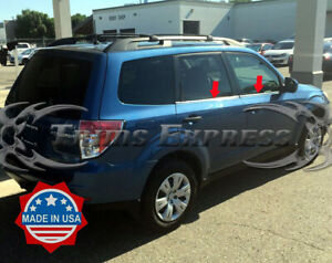 Fit 2008 2013 Subaru Forester 4pc Window Sill Trim Overlay Stainless Chrome