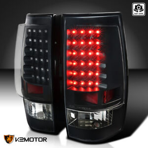 Black 2007 2014 Chevy Tahoe Suburban Led Rear Tail Lights Brake Lamps Left right