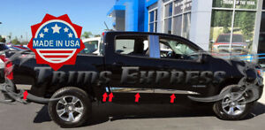 2013 2020 Chevy Colorado Canyon Crew Cab Short Bed Flat Body Side Molding Trim