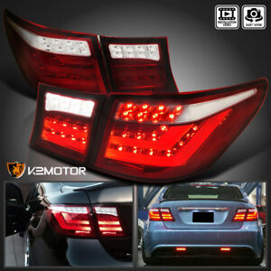 For 07 09 Lexus Ls460 Red Clear Full Led Brake Reverse Tail Lights trunk Lamps