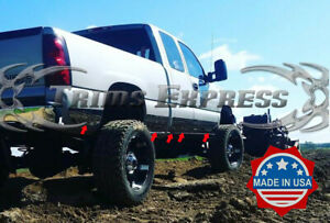 1999 2002 Chevy Silverado 3dr Extended Cab Long Bed Rocker Panel Trim 6 11pc N F