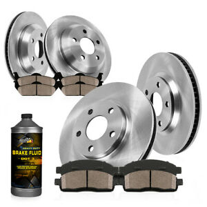 Front And Rear Brake Rotors Ceramic Pads Allure Lacrosse Regal Chevy Malibu 9 5
