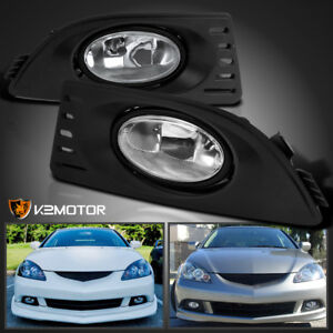2005 2007acura Rsx Clear Bumper Driving Lamps Fog Lights W Switch Left right